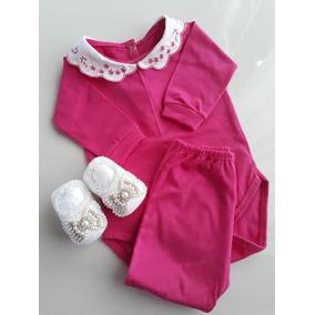 Kit Body Mijao Princesa Pink Enxoval Maria Clara Bordados