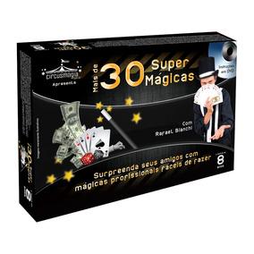 Kit Mágica Profissional 30 Mágicas Com Dvd Fácil De Aprender