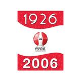 Colección. 6 Botellas. Coca Cola. 80 Años. Retro. Vintage.