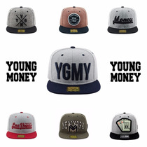 Kit 3 Bones Young Money Aba Reta Snapback Original Barato