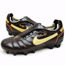 Taco Nike Tiempo Ronaldinho Fg Cafe Piel Nuevo