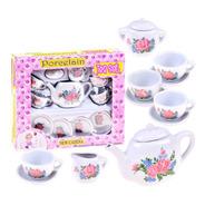 Kit Festa Do Chá Da Tarde Porcelana Infantil 12 Pçs Tea Set