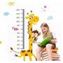 Adesivo Decorativo Girafa C/ Régua De Crescimento Infantil
