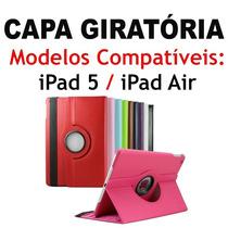 Capa Giratória 360 Couro Sintético Apple Ipad 5 Air Retina