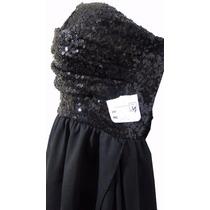 Elegante Vestido Fiestero Importado De Noche Color Negro
