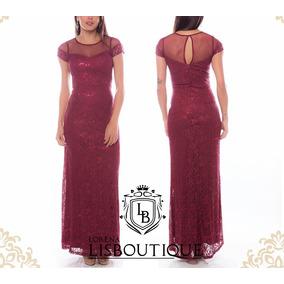 Vestido Vermelho Marsala Renda Formanda Madrinha Festa Convi