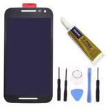Display Tela Touch Moto G3 Preto + Ferramentas + Cola 15ml