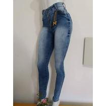 Calça Legue Jeans Corpete Com Laycra Modela O Corpo