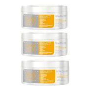 Mascara Capilar Hair Gloss Vita Derm 300g - 3 Unidades