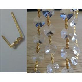 1250 Moños D Metal Oro P/ Tiras De Piedras D Cristal Octagon