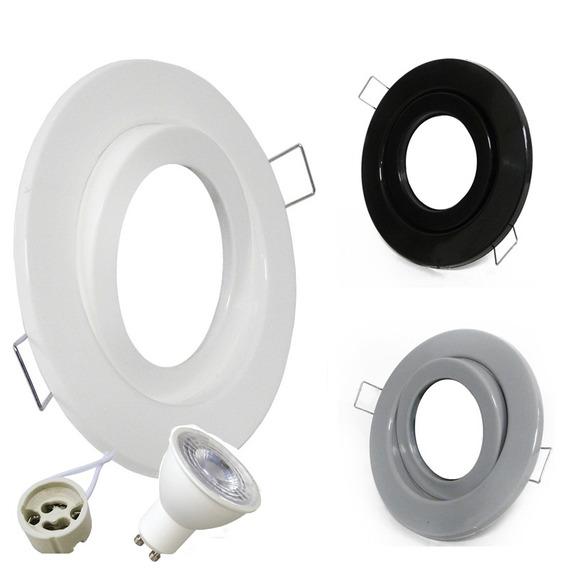 Spot Led Embutir Circular Plastico + Dicro Led 7w Pack X 10