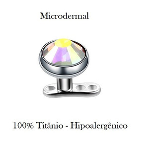 Piercing Microdermal 100% Titânio Base + Topo Furtacor