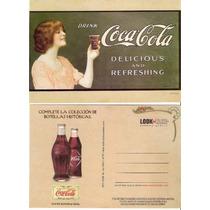 *** Lole ** Tarjeta Coca Cola Botellas Antiguas ***