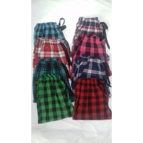 Pantalones A Cuadros Unisex X 2( L,xl,xxl)