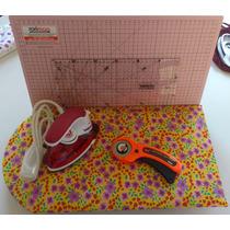 Kit Patchwork C/ Base De Corte,régua,cortador,ferro,tábua #5