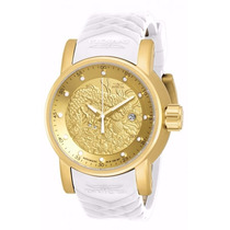 Relógio Invicta Yakuza - 19546 - Dourado Branco Masculino