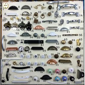 Tiradores Varios Colores Herraje Manija Cajón Metal Ceramica