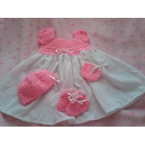 Vestido Tejido Para Bebe Recien Nacida