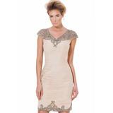 Terani Couture Vestido Cocktail, Civil, Bautizo Original