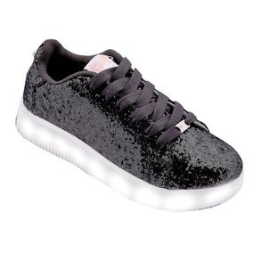 Zapatillas Con Luz Led Footy 47 Street Negra 47stl139 Pc