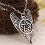 Supernatural : Colar Proteção Pentagrama Asa Anjo Envio 24hs