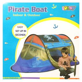 Carpa Barco Pirata 170x85x68 Cm Iplay Mundo 8733