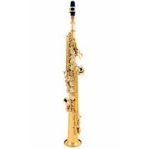 Saxofone Custom Soprano Reto Bb Sib Laqueado + Case . Loja !
