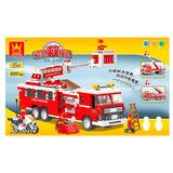 Block De Construcción Carro De Bombero Fire Series 567 Pcs