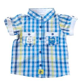 Camisa Infantil Masculina Xadrez Tip Top Bebê Festa Junina