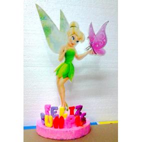 Centros De Mesa Adornos P/ Cumpleaños Campanita Tinkerbeel