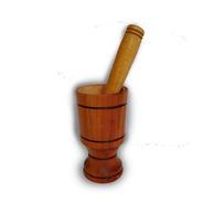 Socador De Temperos Pilão De Madeira Cozinha Ref: 9834