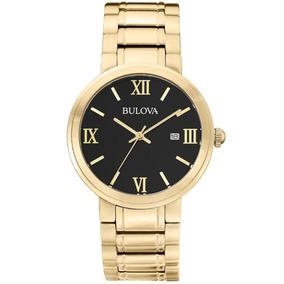 Relógio Bulova Dourado Análogo Wb26146u Números Romanos