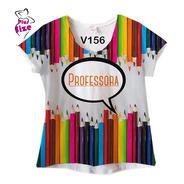 Camiseta Feminina Plus Size Professora
