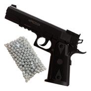 Pistola Airsoft Resorte Fox Colt 1911 6 Mm 15 Disparos + Kit