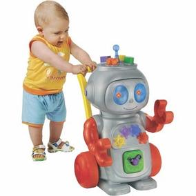 Andador Robo Infantil Bebe Criança Vermelho - Magic Toys