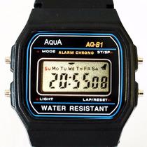 Relógio Digital Original Aqua A Prova D