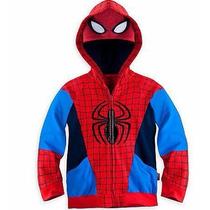 Chamarra Sudadera Spiderman Superheroe, Disfraz De Niño!!