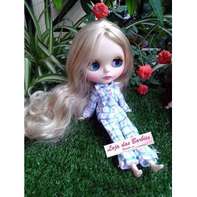 Pijama P/ Boneca Blythe Pullip Licca + Sapato * Roupa 01