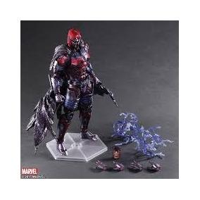Magneto X-men Com Suporte Play Arts Kai 26cm