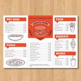 Cartas Menu Bar - Restaurant - Cafeteria De Diseño