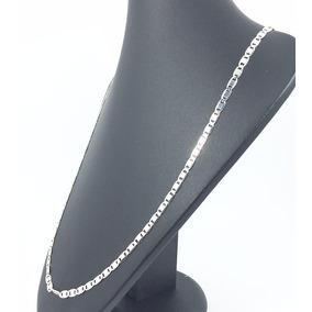 Corrente Em Prata 925 Modelo Piastrine De 70cm E 3,05 Gramas