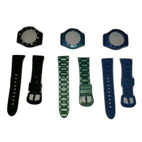 Kit Com 3 Pulseiras + Caixas Do Relógio Mondaine 94400 94401
