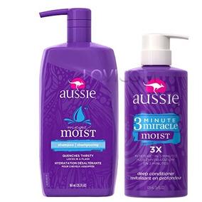 Máscara Aussie 3 Minute Miracle Moist 475ml+ 1 Shampoo 865ml