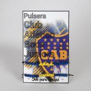 Pulsera Boca 2- Pulsera Futbol Argentino - Brazalete Boca