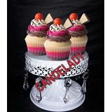 Porta Cupcakes , En Hierro , Con Caireles