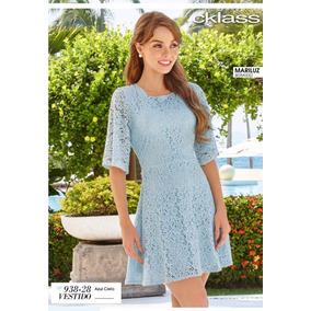 Vestido Cklass Azul Cielo Encaje Primavera Verano 2017 Nuevo