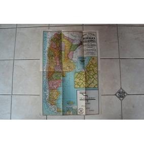 Viejo Mapa De La República Argentina