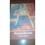 Libro De Texto Sep Matemáticas Sexto Grado 6to 1989