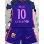 2017 Conjunto Violeta Barcelona 10 Messi Niño Camiseta Short