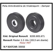 Polia Do Virabrequim Renault Master 2.3 16v 2013 Em Diante